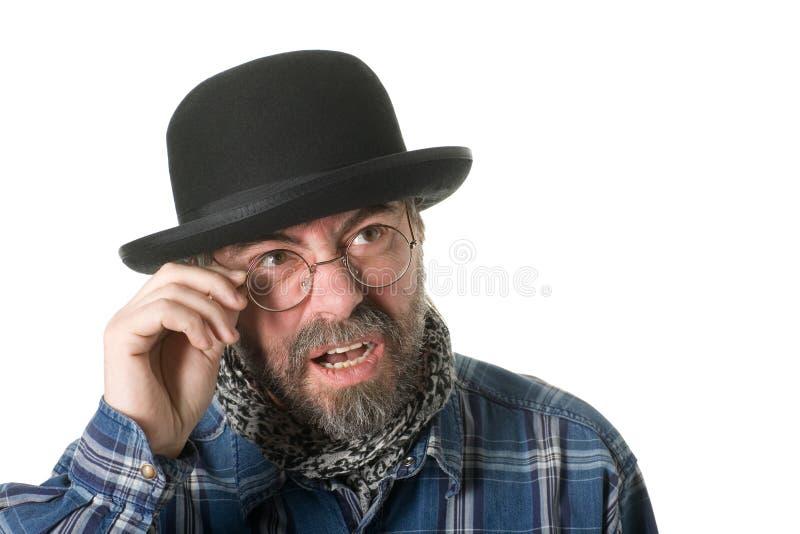 Curious Man Stock Photo