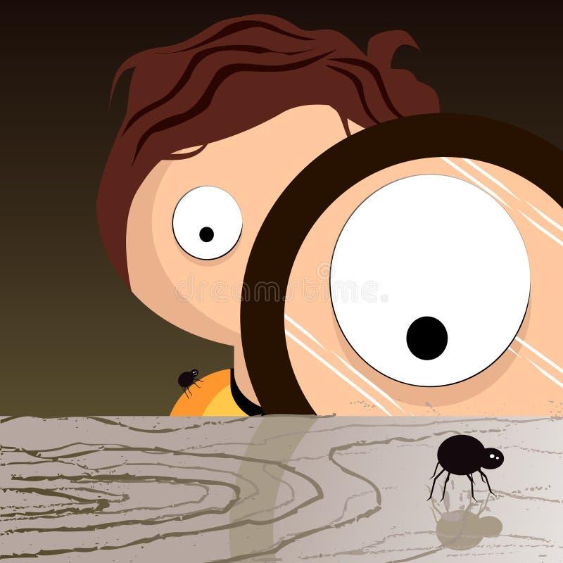 Curious Sam - Creepy Find vector illustration