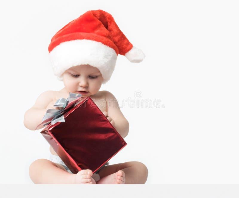 Download Curious Santa stock image. Image of santa, child, baby - 7452181