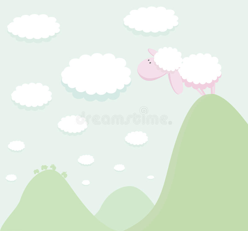 Download Curious Sheep stock vector. Image of cute, vector, herbivorous - 21931953