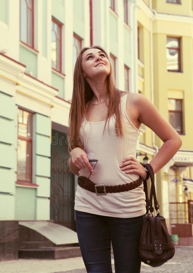 Download Curious Woman On The Urban Street Royalty Free Stock Photo - Image: 26477125