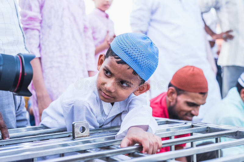 Curiousity a Jama Masjid, Delhi immagini stock libere da diritti