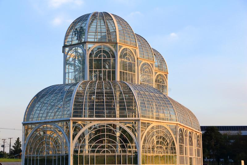 Curitiba botanisk trädgård arkivbild