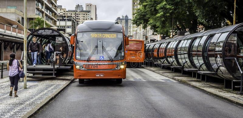 Curitiba en Paraná, el Brasil foto de archivo