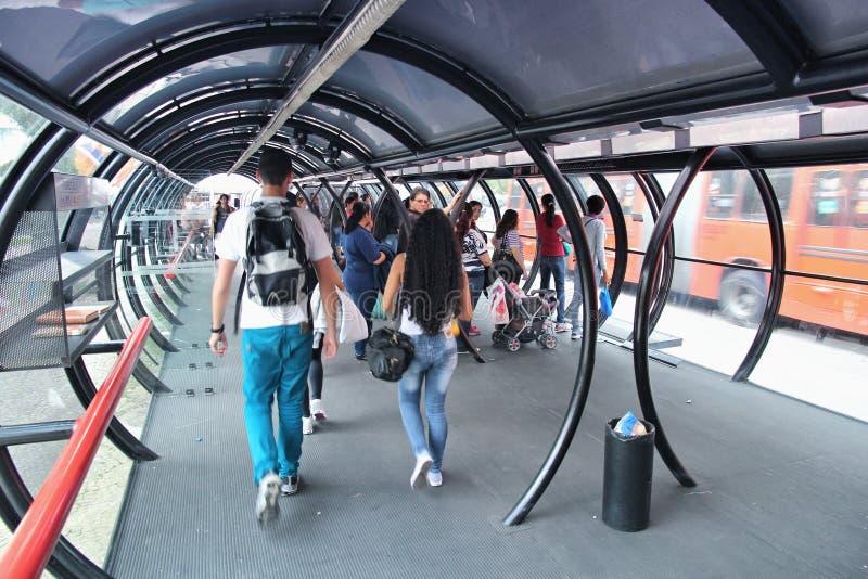 Curitiba hållplats arkivbild