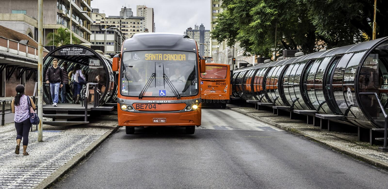 Curitiba i Parana, Brasilien arkivfoto