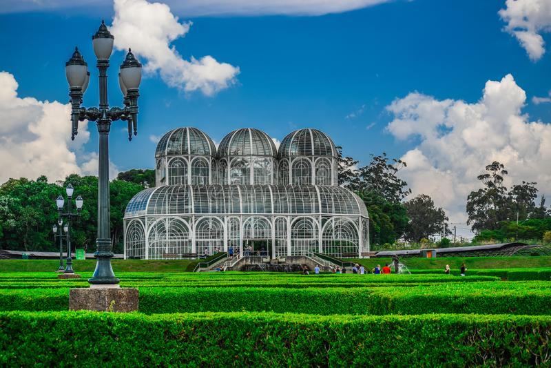 Botanical Garden in Curitiba. Paraná, Brazil. royalty free stock photos