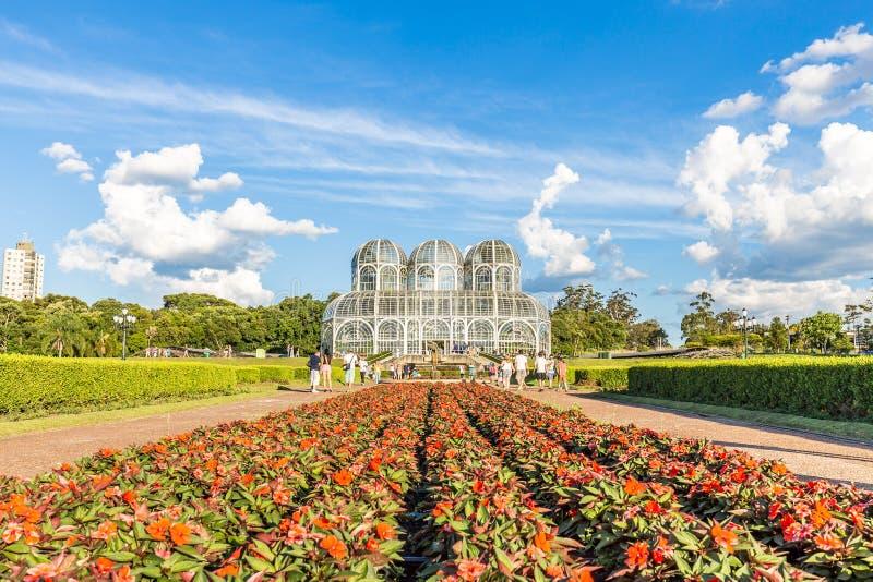 CURITIBA, PARANA/BRAZIL - 26-ОЕ ДЕКАБРЯ 2016: Ботанический сад в солнечном дне стоковые фотографии rf