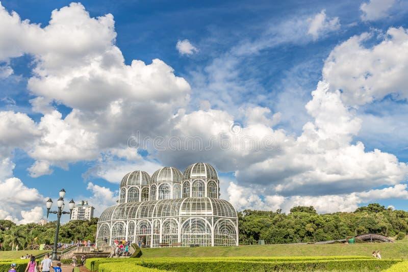 CURITIBA, PARANA/BRAZIL - 26 DE DEZEMBRO DE 2016: Jardim botânico em um dia ensolarado fotos de stock royalty free