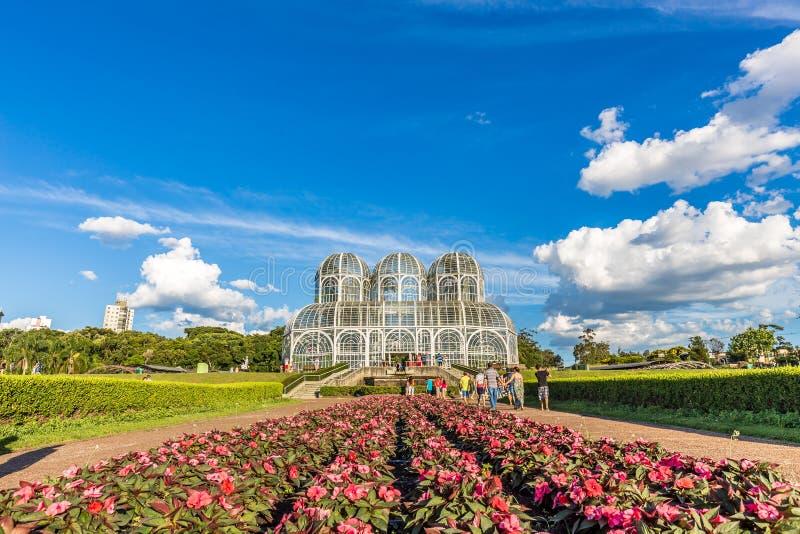 CURITIBA, PARANA/BRAZIL - 26 DE DEZEMBRO DE 2016: Jardim botânico em um dia ensolarado foto de stock royalty free