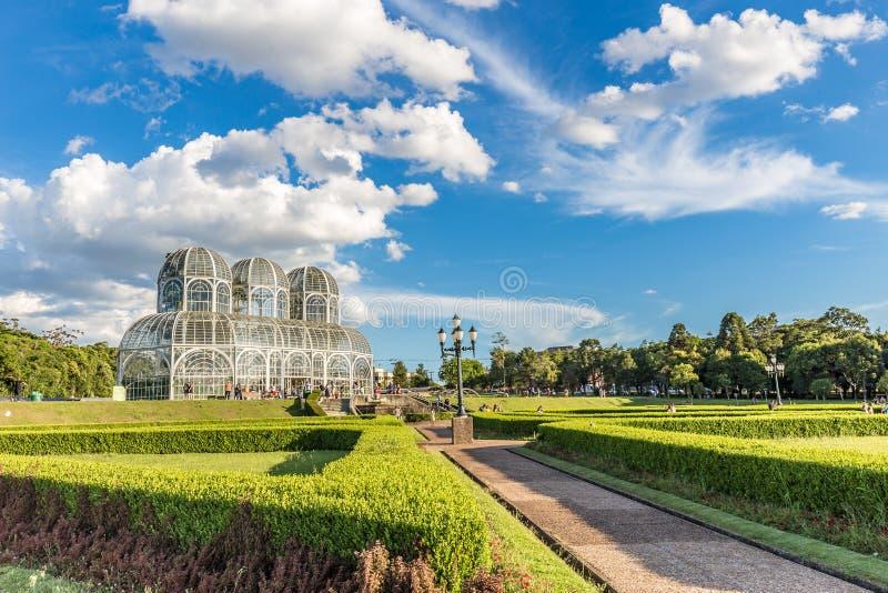 CURITIBA, PARANA/BRAZIL - DECEMBER 26 2016: Botanical Garden in a sunny day royalty free stock photography