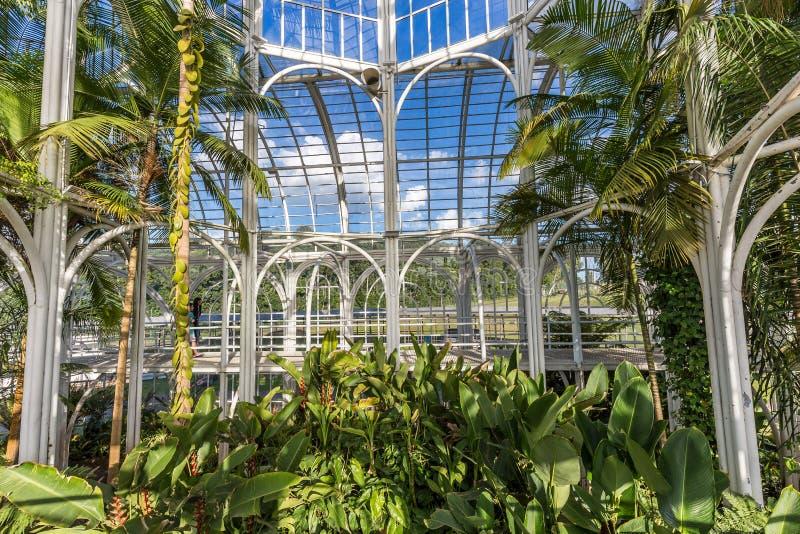 CURITIBA PARANA/BRAZIL - DECEMBER 26 2016: Botanisk trädgård i en solig dag royaltyfria foton
