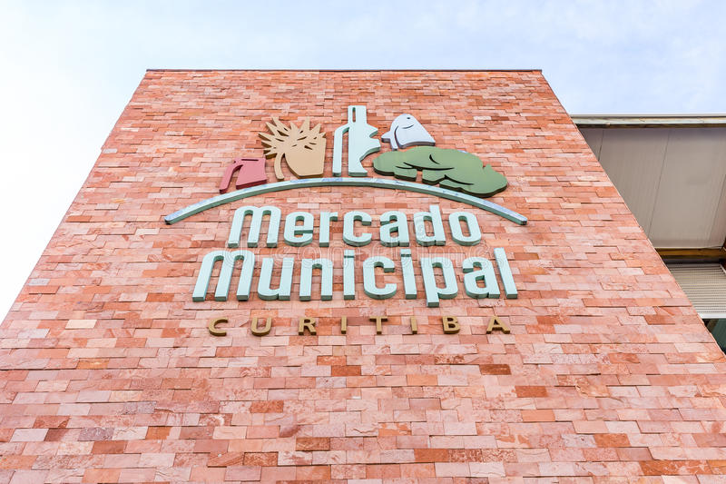 CURITIBA, PARANA/BRAZIL - 28 DECEMBER 2016: Curitiba Gemeentelijke Markt stock foto