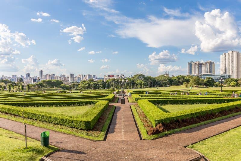 CURITIBA, PARANA/BRAZIL - GRUDZIEŃ 26 2016: Ogród Botaniczny w słonecznym dniu obrazy royalty free