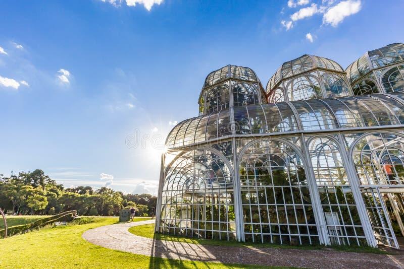 CURITIBA, PARANA/BRAZIL - GRUDZIEŃ 26 2016: Ogród Botaniczny w słonecznym dniu fotografia stock
