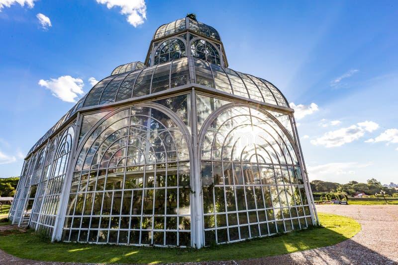 CURITIBA, PARANA/BRAZIL - GRUDZIEŃ 26 2016: Ogród Botaniczny w słonecznym dniu fotografia royalty free