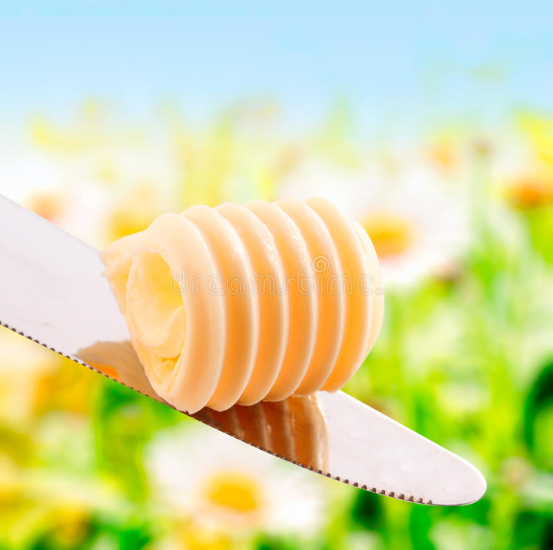 Curl of fresh summer butter royalty free stock image
