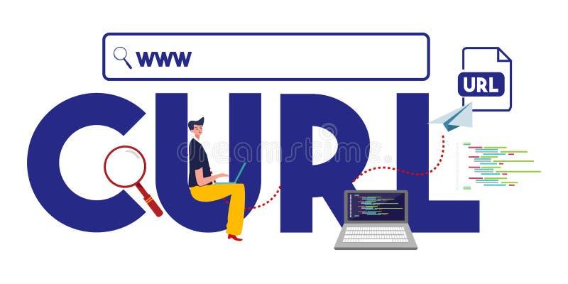 CURL www internet address URL format website royalty free illustration