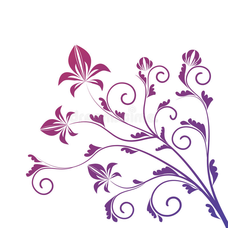 Free Curled Floral Ornament Isolated On White Stock Photo - 14540310