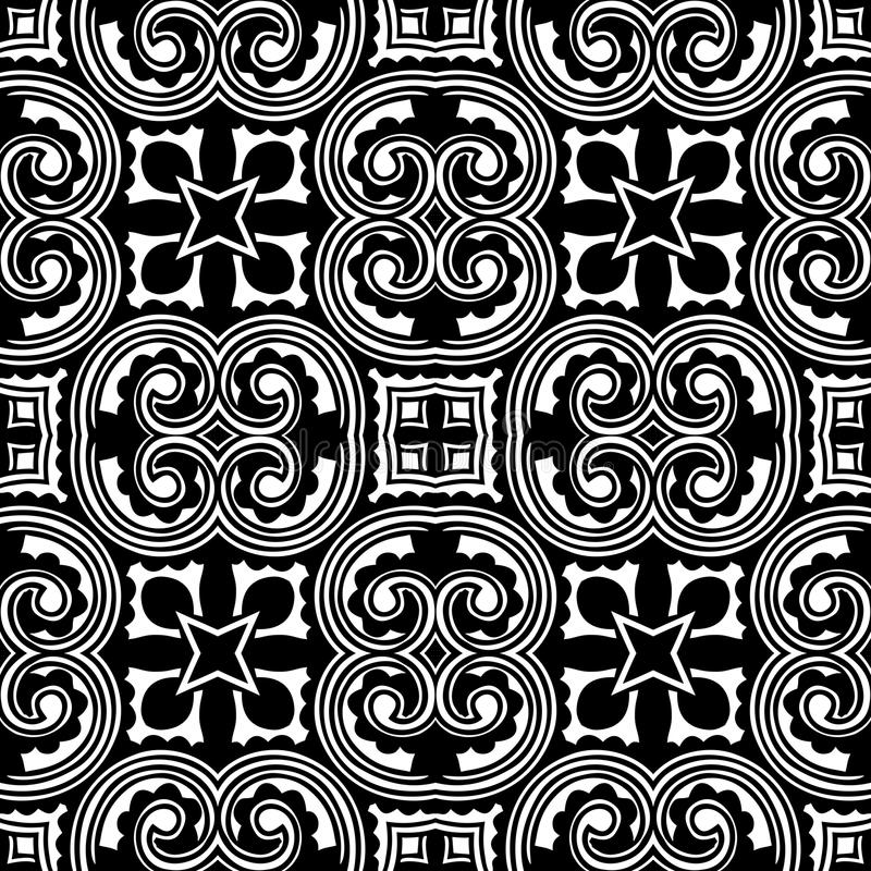 CURLED LINES SEAMLESS PATTERN BACKGROUND IN BLACK N WHITE. Seamless background pattern for use in fabrics , web backgrounds , art , styling , prints , designing stock illustration