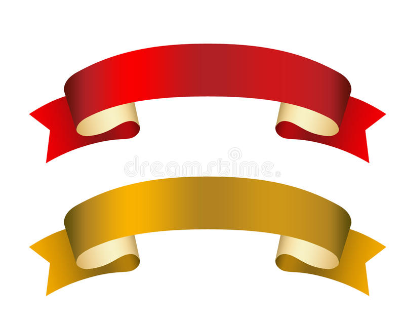 Curled ribbons illustration royalty free stock image