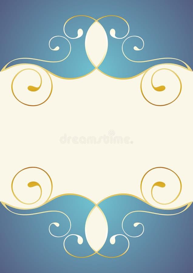 curlicue złoty ilustracji