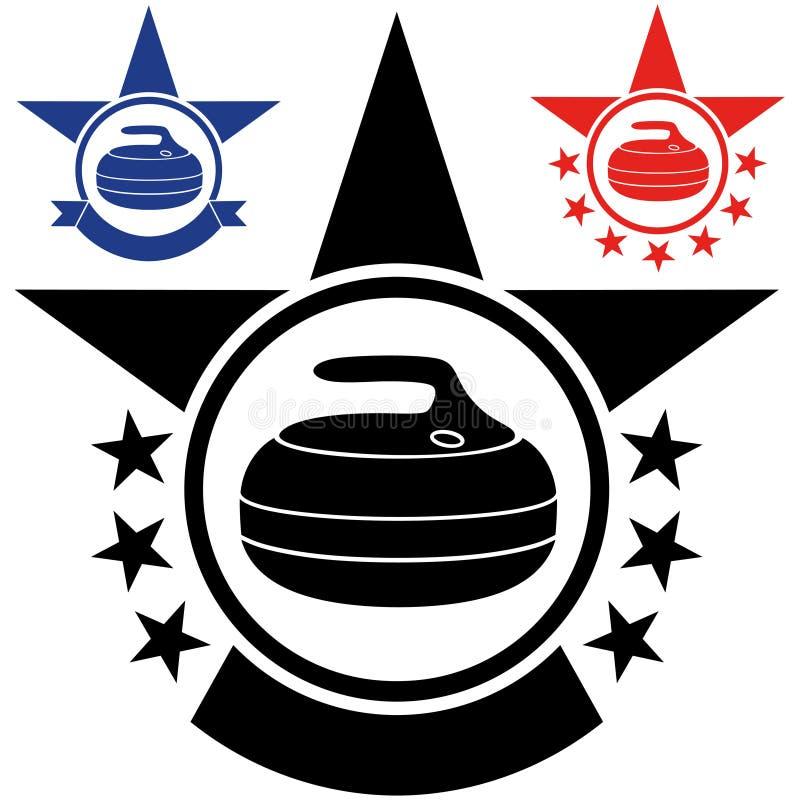 curling vector illustratie