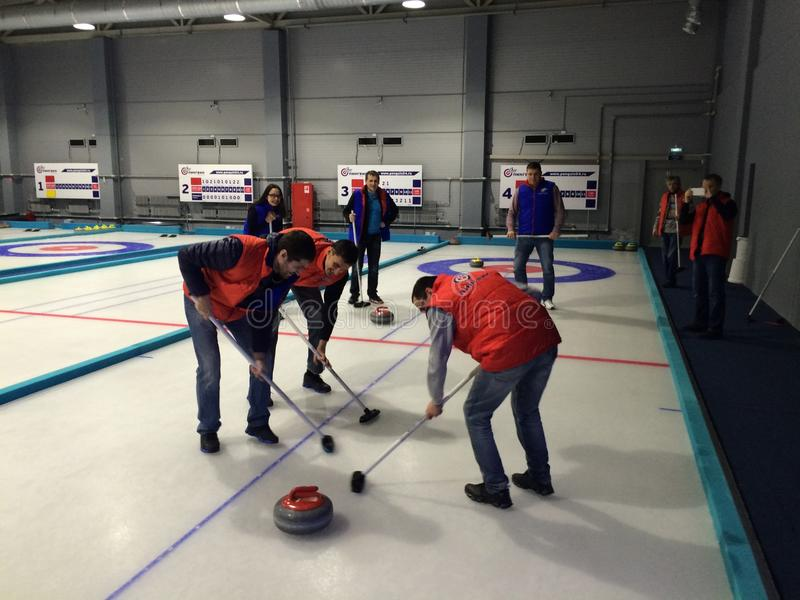 curling royalty-vrije stock foto