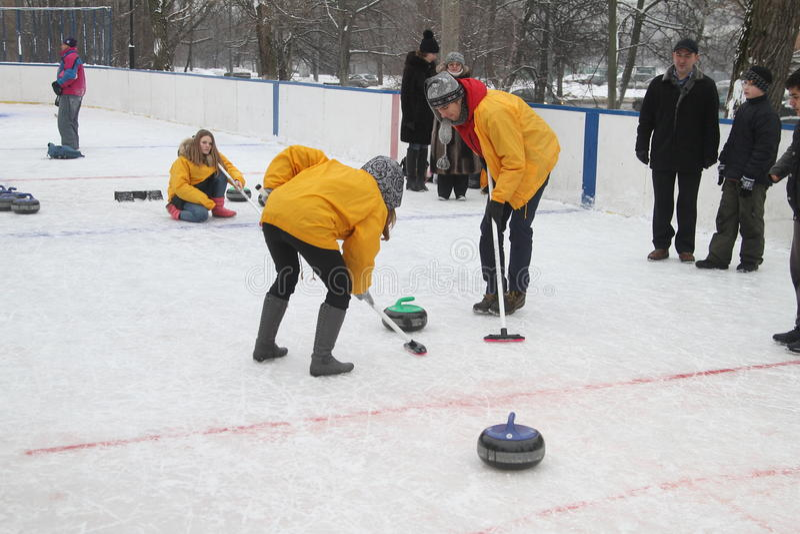 curling imagen de archivo