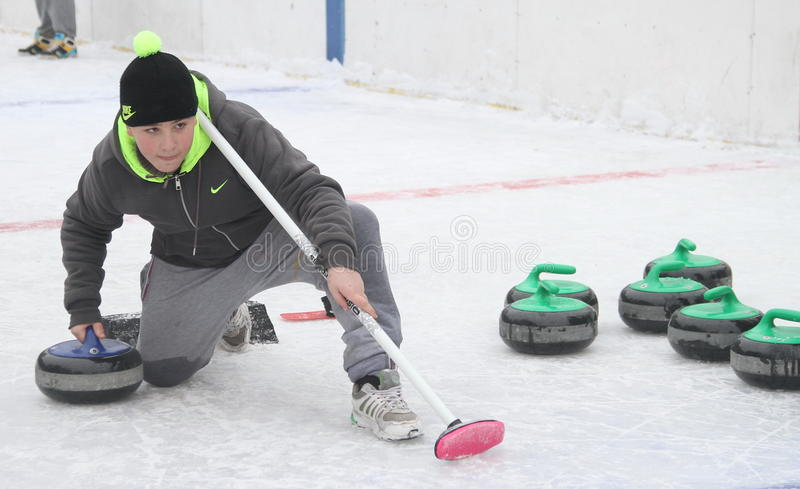 curling stock foto's