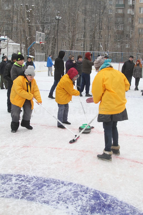 curling imagenes de archivo