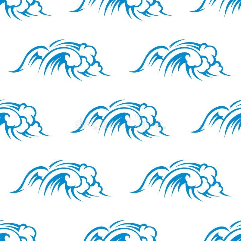 Download Curling Breaking Waves Seamless Stock Illustration - Illustration of splashing, sign: 38675563