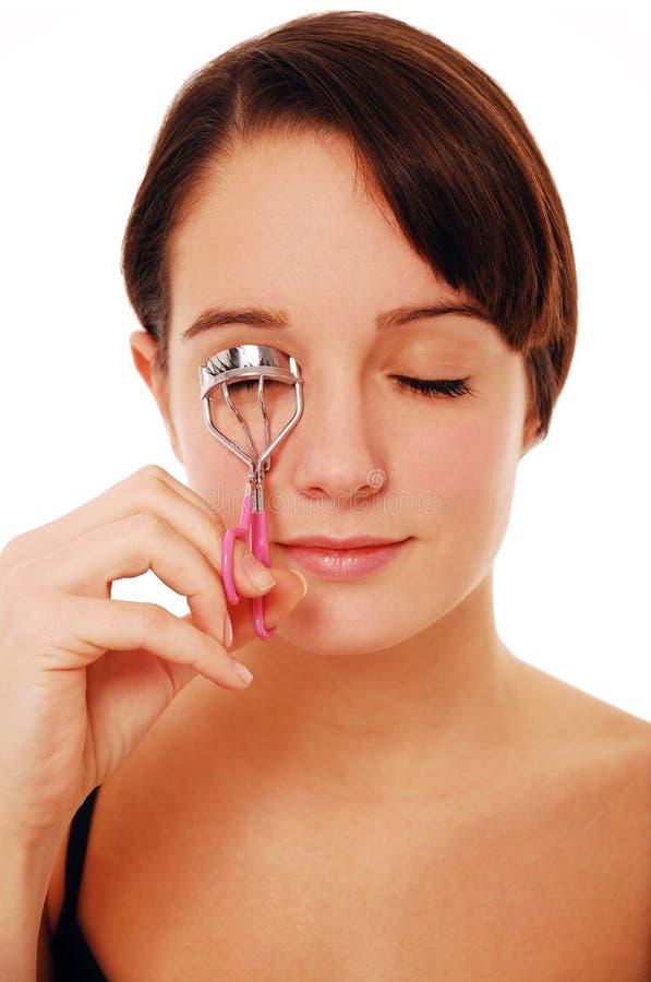 Curling eyelashes stock photography