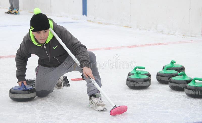 curling Fans que se encrespan del club fotos de archivo libres de regalías