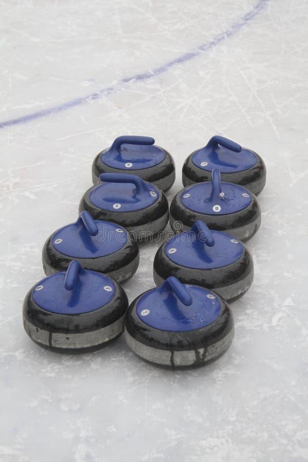 curling Fans que se encrespan del club fotografía de archivo libre de regalías