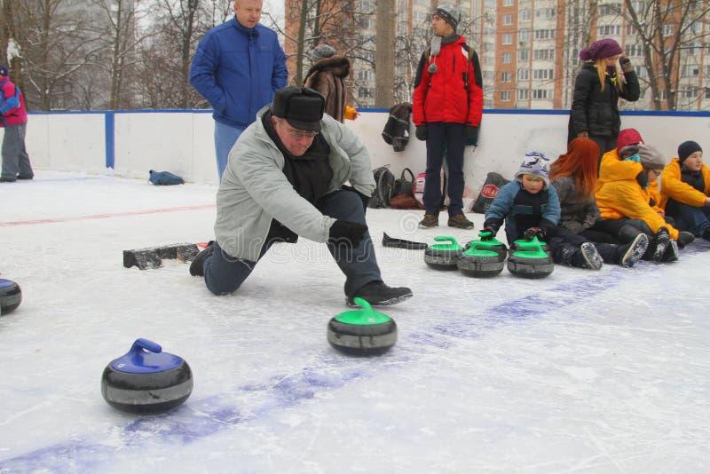 curling Fans que se encrespan del club foto de archivo libre de regalías