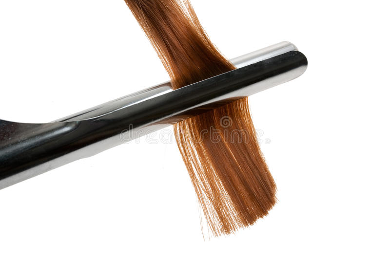 Download Curling Hair With Curling Iron Stock Photo - Image: 13735740