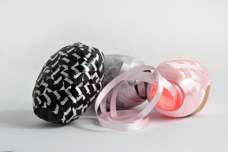 Curling Ribbon - Colorful Gift Wrapping Band On White ...
