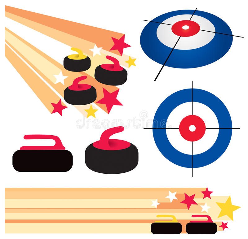 Download Curling Rock And House Graphic Elements Stock Vector - Image: 28484976