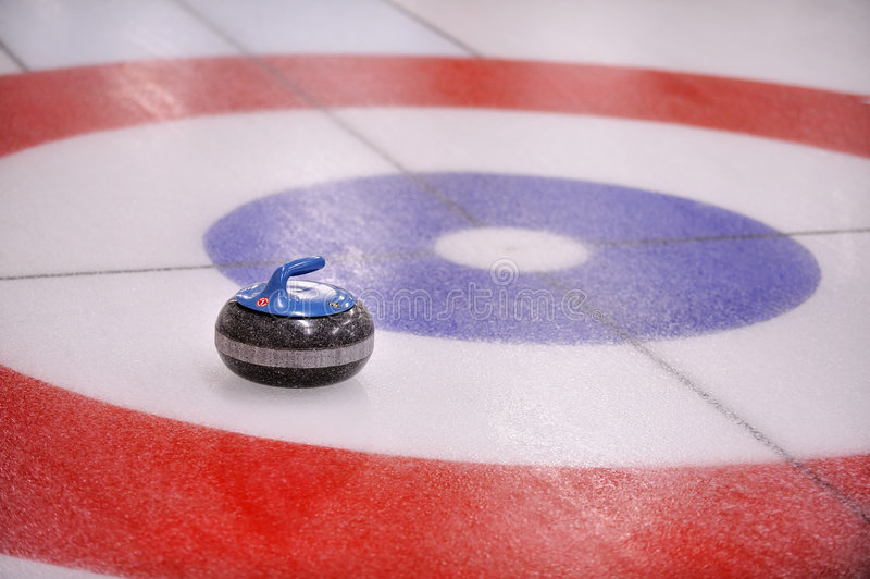 Download Curling-Rock In Target Stock Image - Image: 8919561