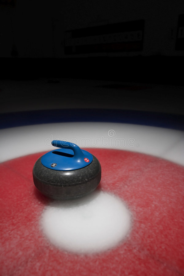 Curling Stone royalty free stock image