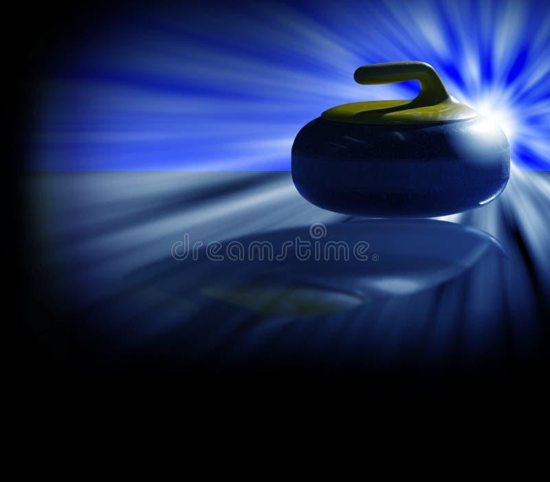 Download Curling Stone Backlight Blue Stock Illustration - Illustration of curler, light: 18744374