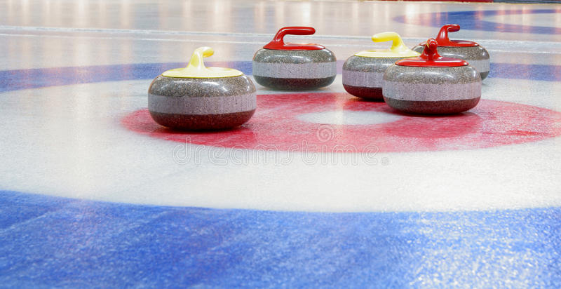 Download Curling  stones stock photo. Image of yellow, granite - 18244350