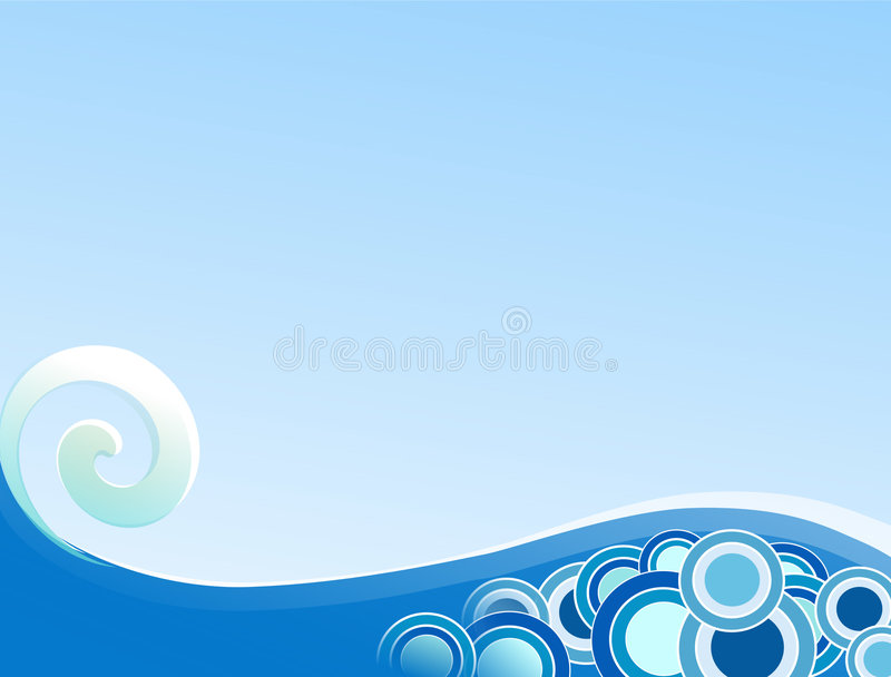 Download Curling Wave stock illustration. Image of retro, backdrop - 2582385