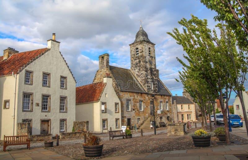Curloss, poprzedni królewski burgh, wioska i parafia, w piszczaÅ'ce Szkocja zdjęcia stock