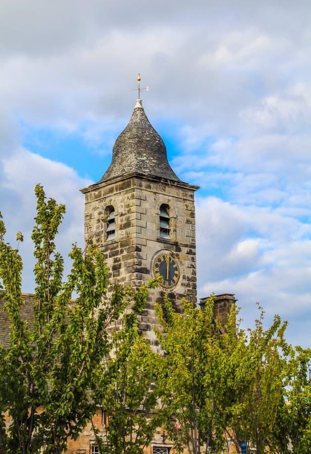 Curloss, uma vila e um burgh real anterior, e paróquia, no pífano Escócia fotografia de stock royalty free