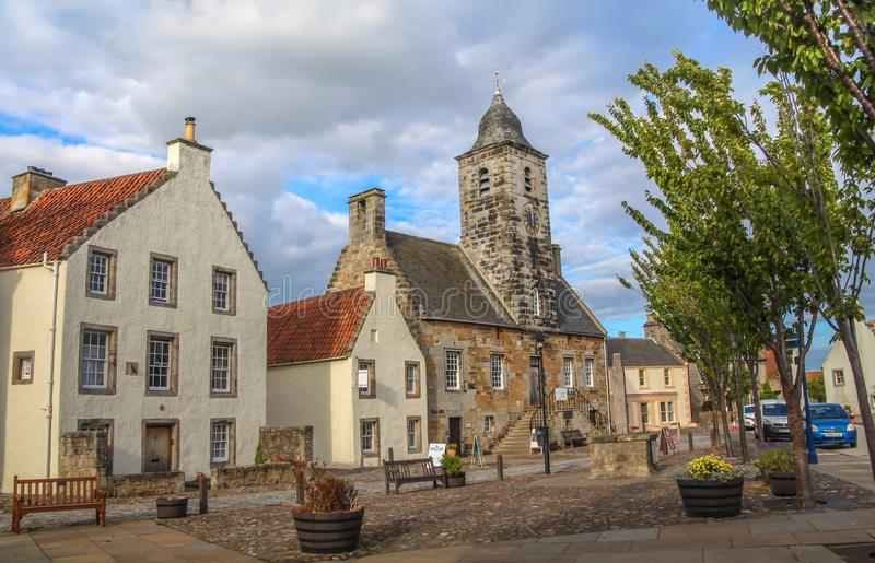 Curloss, a village and former royal burgh, and parish, in Fife Scotland. Curloss, a village and former royal burgh, and parish, in Fife, Summer travel to stock photos