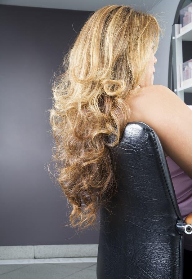 Curls hanging royalty free stock image