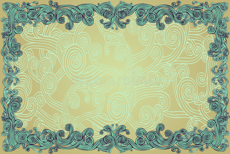 Download Curly Border stock vector. Image of curvy, swirly, floral - 2404961
