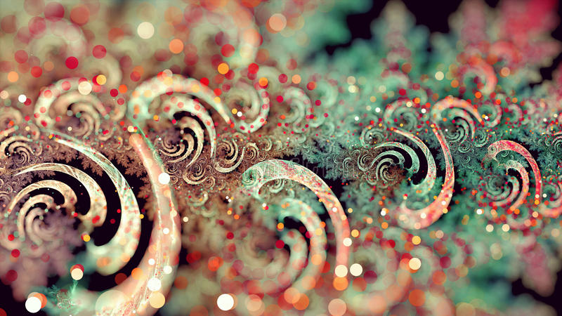 Download Curly Fractal stock photo. Image of background, digital - 83350162